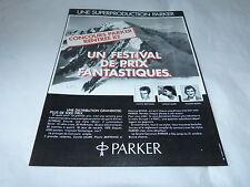 PLASTIC BERTRAND - CAROLE LAURE - MAXIME BOSSIS - Publicité de magazine / Advert