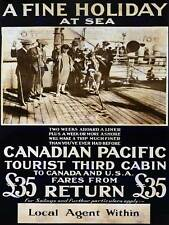 TRAVEL Canadian Pacific nave FODERA vacanza vacanze Cruise USA POSTER ART 2338py
