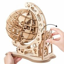 3D Wooden Puzzle 147pcs Globe Greas Model Assembly Toy Gift for Kids Teens Adult