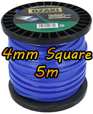 5m of 4mm Square - DR TRIMMER STRIMMER Cord Line Wire String Nylon - HEAVY DUTY