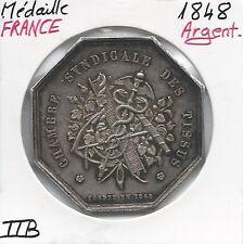 MEDAILLE EN ARGENT - CHAMBRE SYNDICALE DES TISSUS - DPT LA SEINE // Qualité: TTB