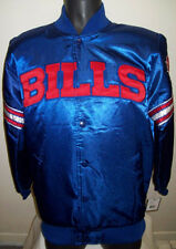 BUFFALO BILLS Original STARTER Satin Jacket Blue & Red MEDIUM NFL