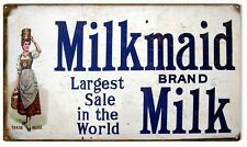Reproduction Milkmaid Brand Milk Country Advertisement Sign