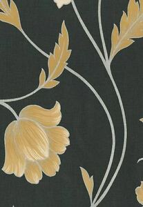 Moda Black Label Emma Luxury Designer Wallpaper - Pattern No 422 Batch No A