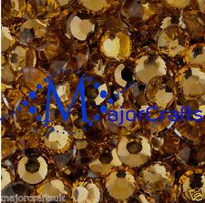 2000pcs Bronze Brown 4mm ss16 Flat Back Resin Rhinestones Diamante DIY Gems C26