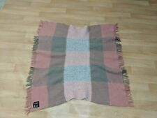 Samband Of Iceland Icelandic Thick Sheep 100% Wool Fringe Throw Blanket Pink VTG
