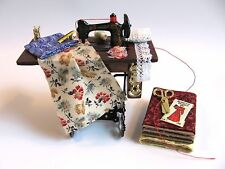 doll house dollhouse miniature SEW SEWING MACHINE TABLE