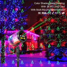 Christmas Laser Projection Red Green Color Xmas Theme Projector Landscape Light
