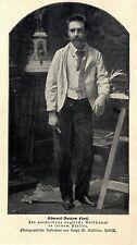 Der verstorbene englische Bildhauer Edward Onslow Ford in seinem Atelier v.1902