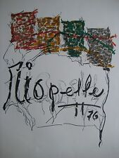 RIOPELLE JEAN PAUL LITHOGRAPHIE SIGNÉE PLANCHE SIGNED LITHOGRAPH QUEBEC MONTREAL