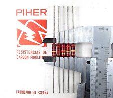 5 Piher 1/2W resistor 470K 220K 100K 82K 68K 56K 47K 33K 15K 10K 820R 470R 1 Meg