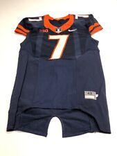 Game Worn Used Illinois Fighting Illini Football Jersey Nike Size 42 #7