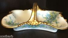Vintage Limoges J.Pouyat Gold Handled Candy Tid Bit Decorative Dish Antique