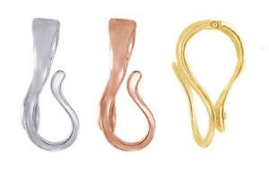 LARGE INTERCHANGEABLE Pendant Hanger SLIDE Enhancer SILVER, ROSE or YG fits 10mm