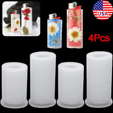 4Pcs Silicone Resin Molds Universal Lighter Cover Punch Epoxy Mold Art Craft