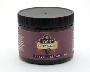 Captain's Choice 45th Parallel  Shaving Cream, Fast Shipping