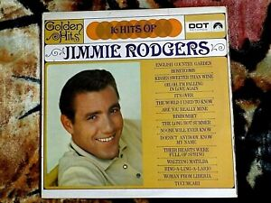 jimmie rodgers vinyl album titled 16 hits of jimmie rodgers