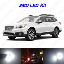 14x White LED Interior Bulbs + Reverse + Tag Lights for 2010-2017 Subaru Outback