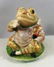 Very Rare BP1a Beatrix Potter Figurine Beswick MR JEREMY FISHER Gold Circle N/R