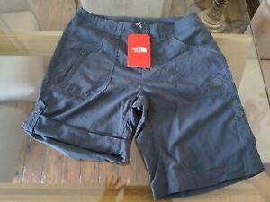 North Face Womens Horizon Sunnyside Trek Sail Shorts Size 8 Vanadis Grey £45 RRP