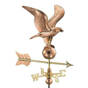 Good Directions Eagle Cottage Weathervane Solid Pure Polish Copper Roof Mount
