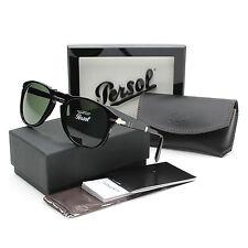 Persol 714 Folding Sunglasses 95/31 Black / Grey Green Crystal Lens PO0714 54 mm