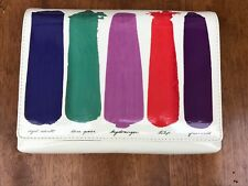 KATE SPADE NEW YORK Gene Brushstroke Paint Patent Leather Clutch Handbag NWT!