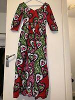 Women Ladies African Maxi Dress Dashiki Fabric African Wear Size Small