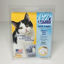 Soft Claws Nail Caps for Cats Kittens First Year Paws Kitten Clear New