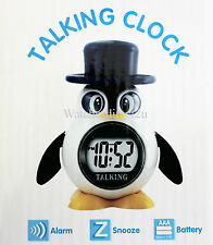 Penguin Talking LCD Alarm Clock for Blind and Partially Sighted, Ideal Kids Gift