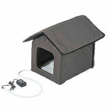 PawHut D30-052 Heated Cat House - Brown