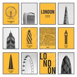London Art Print Poster Picture Travel City Map Art Print Poster Wall Decor Art