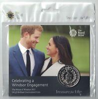 UK 2017 £5 Windsor Engagement Prince Harry Meghan Markle UNC coin Royal Mint