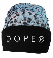 Dope Couture D0915-H510-DTL Seurat Beanie Blue Speckled Hat Teal Skull Cap