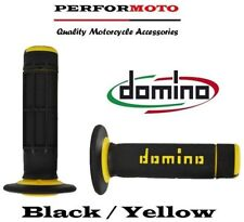 Domino Diamond Waffle Grips Black / Yellow Husqvarna CR65