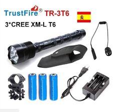 KIT CAZA LINTERNA LED TRUSTFIRE TR-3T6 3*CREE XM-L T6 3800LM 18650