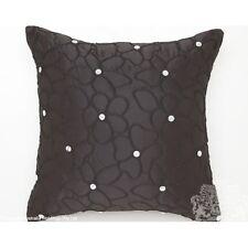 "New LOGAN & MASON ""STARFLOWER"" BLACK Matt Satin Diamante Square Filled Cushion"