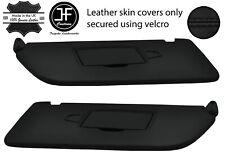 BLACK STITCH 2X SUN VISORS LEATHER COVERS FOR MERCEDES VITO W447 15-20 2 MIRROR