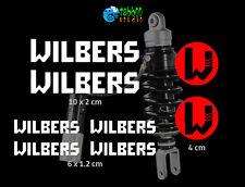 8 Adesivi Wilbers sospensioni forcelle sponsor stickers BMW KTM Ducati Honda