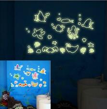 Fluorescent Sea Fish Octopus Turtle Crab Kids Room Wall Sticker Decal Vinyl