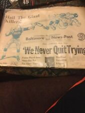 1959 Baltimore Colts NFL Football Champions Newspaper - Baltimore News- Post