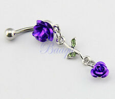 JW724 Barbell Belly Bar Ring Button Navel Body Piercing Jewelry Unique Dance MA