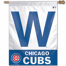 CHICAGO CUBS ~ Official MLB Licensed W Win Outdoor House Flag Banner ~ New!