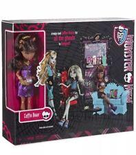 Monster High Coffin Bean & Clawdeen Wolf Doll Playset NIB