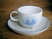 Exzellente Erhaltung! ROSENTHAL Century blaue Blume1 Teetasse + Untere WIRKKALA