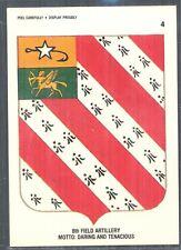 8th Field Artillery Regiment, U.S. Army. 1991 Topps Desert Storm Sticker/Card #4
