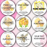 48x Personalised HONEY Pot Lid Jar Labels Stickers Homemade Preserves Conserve