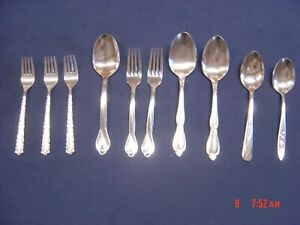 LOT OF 10 Oneida MIXED LOT STAINLESS STEEL SILVERWARE