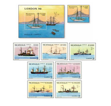 NIC90062 Steamers and sailing ships, a series of 8 stamps and block