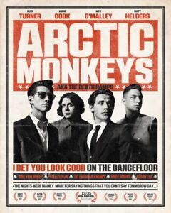Arctic Monkeys Vintage Poster A5